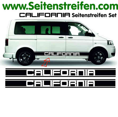 VW Bus T4 T5 California XL Stickerbande latérale autocollant ensemble complet  N° 5104
