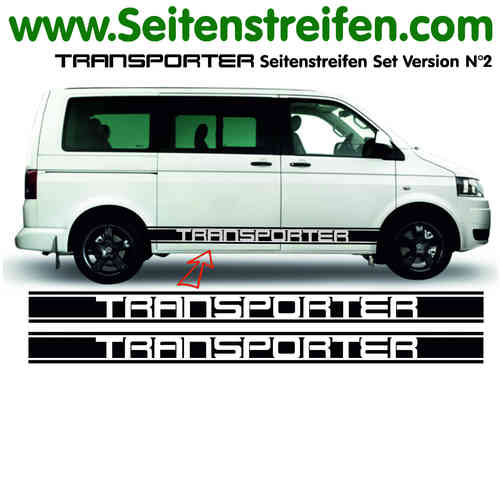 VW Bus T4 T5 Transporter XL Sticker bande latérale autocollant ensemble complet  N° 5115