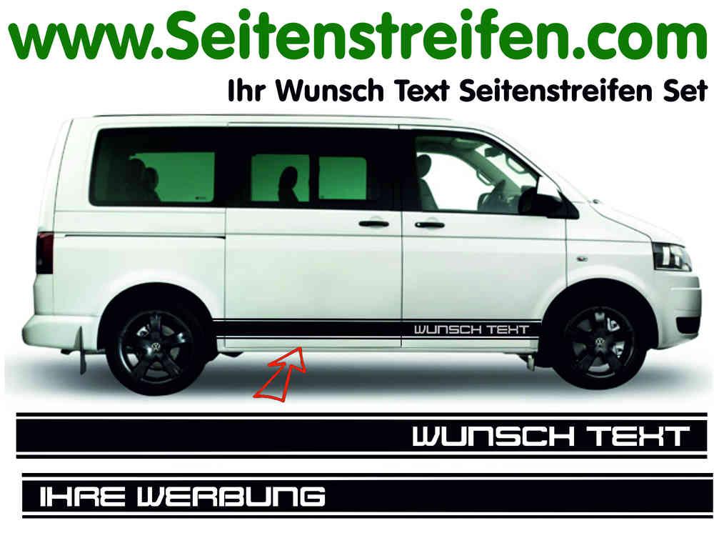 Vw Bus T4 T5 T6 Wunschtext Seitenstreifen Aufkleber Set Version N3 Artnr 5129