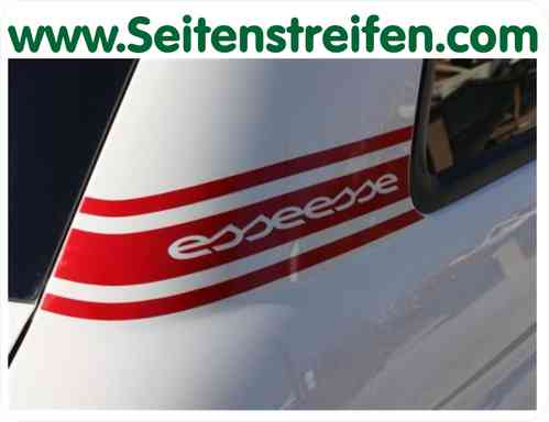 Fiat 500 Abarth esseesse - sticker autocollant set - N° 5136