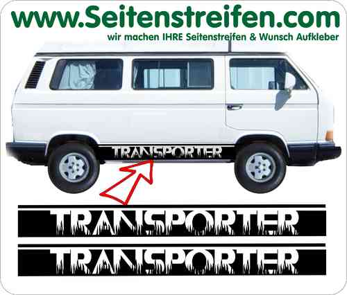 VW Bus T3 TRANSPORTER Aufkleber Sticker Seitenstreifen Set Version N°1 Art.Nr.: 5227