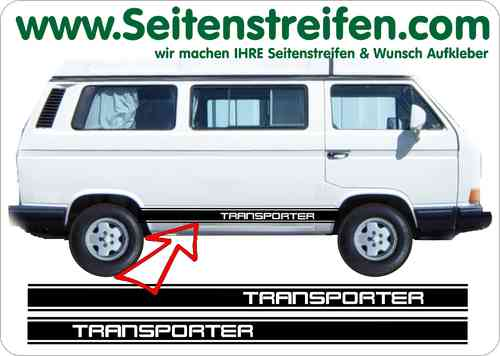 VW Bus T3 TRANSPORTER Aufkleber Sticker Seitenstreifen Set Version N°3 Art.Nr.: 5228