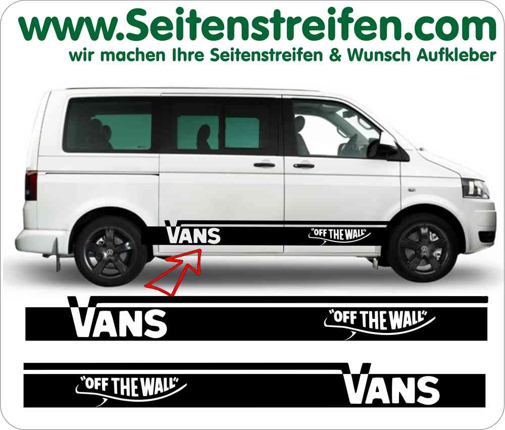 Bus t4 t5 vans off the wall side stripe sticker decal set vw bus t4 t5 vans off the wall side stripe sticker decal set amipublicfo Choice Image