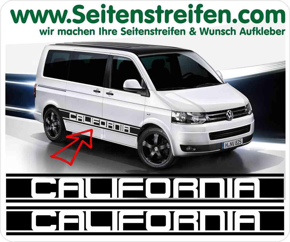 Vw Bus T5 T6 California Seitenstreifen Aufkleber Sticker Set Artnr 5217