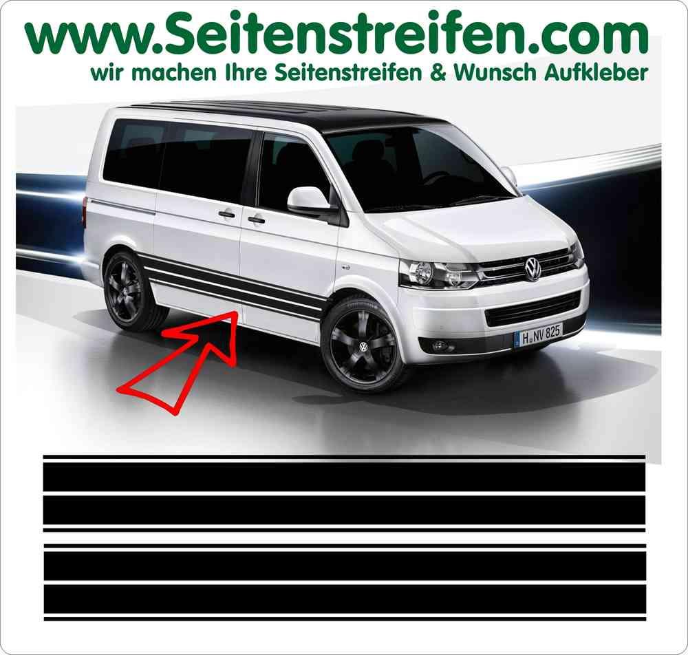 VW Bus Aufkleber Seitenstreifen Dekor Set´s