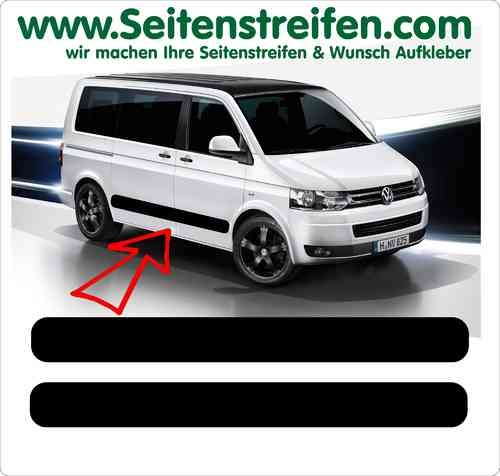 VW Bus T4 T5 T6 Seitenstreifen Aufkleber Sticker Set - Version 4 - Art.Nr.: 5212