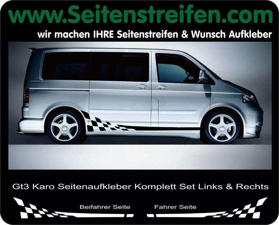 Vw Bus T4 T5 Checker Aufkleber Seitenstreifen Set Artnr 7962