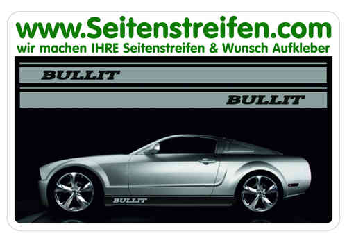Ford Mustang BULLIT Sticker bande latérale autocollant ensemble complet N° 5047