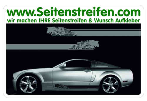 Ford Mustang SALEEN Sticker bande latérale autocollant ensemble complet - N° 5048