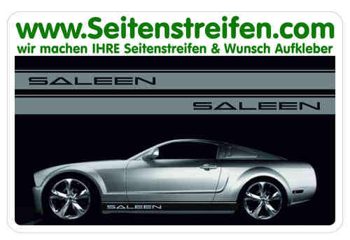 Ford Mustang SALEEN Sticker bande latérale autocollant ensemble complet N° 5049
