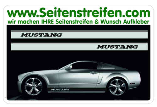 Ford Mustang Sticker bande latérale autocollant ensemble complet - N° 5051