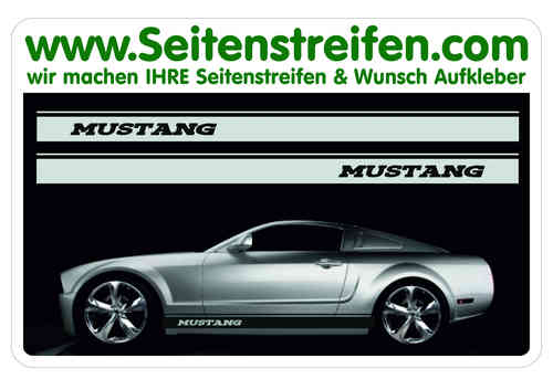 Ford Mustang Sticker Autocollant bande latérale autocollant ensemble complet N°  5052