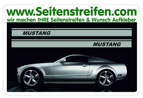 Ford Mustang Sticker bande latérale autocollant ensemble complet N° 5053