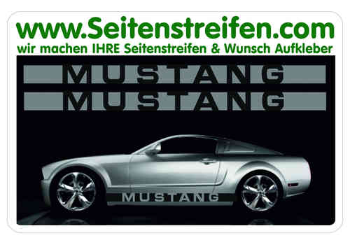 Ford Mustang Sticker bande latérale autocollant ensemble complet N° 5054