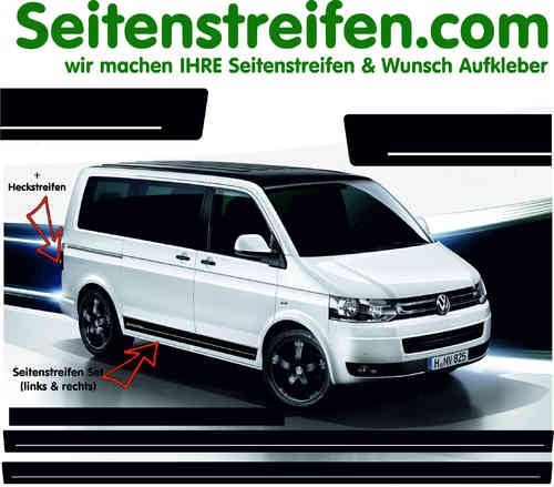 VW T4 T5 T6 Edition Sticker bande latérale autocollant ensemble complet  N° 5056