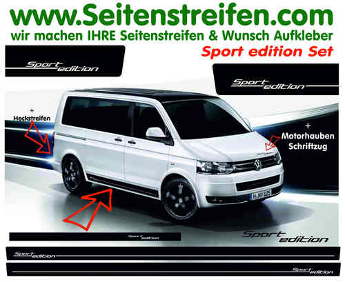 Vw Bus T4 T5 - Sport Edition set de pegatinas laterales / adhesivo