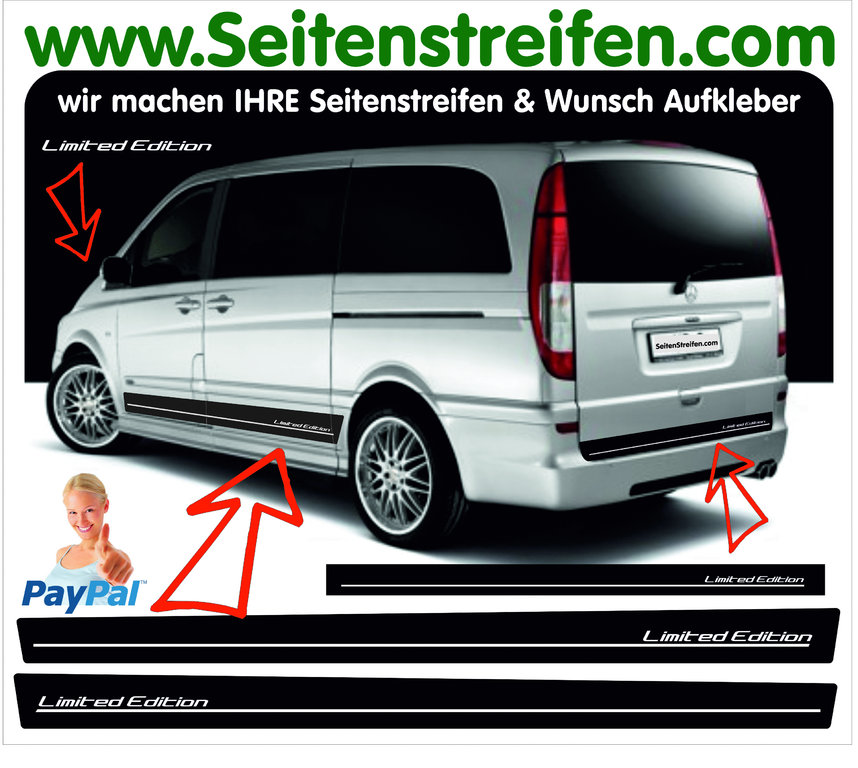 mercedes benz viano vito limited edition seitenstreifen. Black Bedroom Furniture Sets. Home Design Ideas
