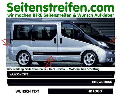VW Bus T4  T5 Edition 25 Pegatinas Laterales Adhesivo - set completo