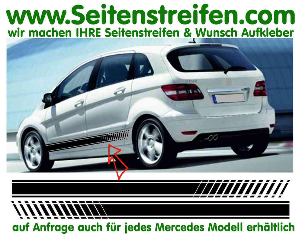 Mercedes Benz B Klasse Evo Look Seitenstreifen Dekor Aufkleber Set Artnr 7094