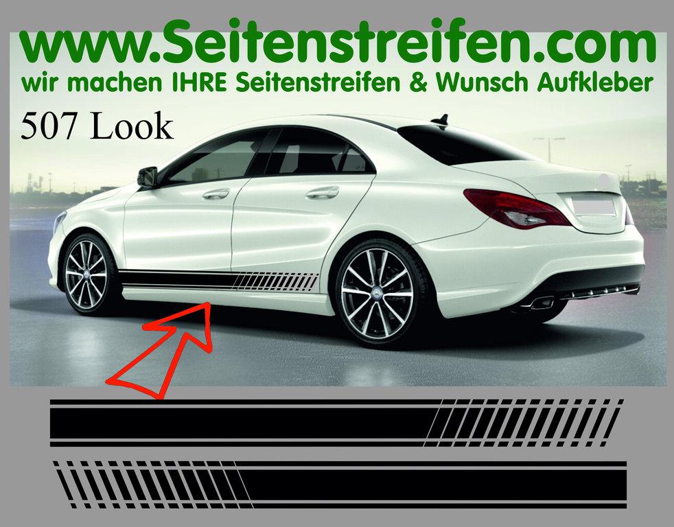 Mercedes Benz Cla Cla Shooting Brake Amg Evo Seitenstreifen Dekor Aufkleber Set Artnr 7089