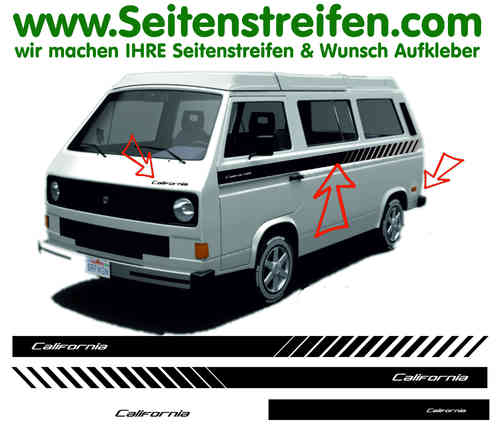 VW Bus T3 Transporter Pegatinas Laterales Adhesivo - set completo