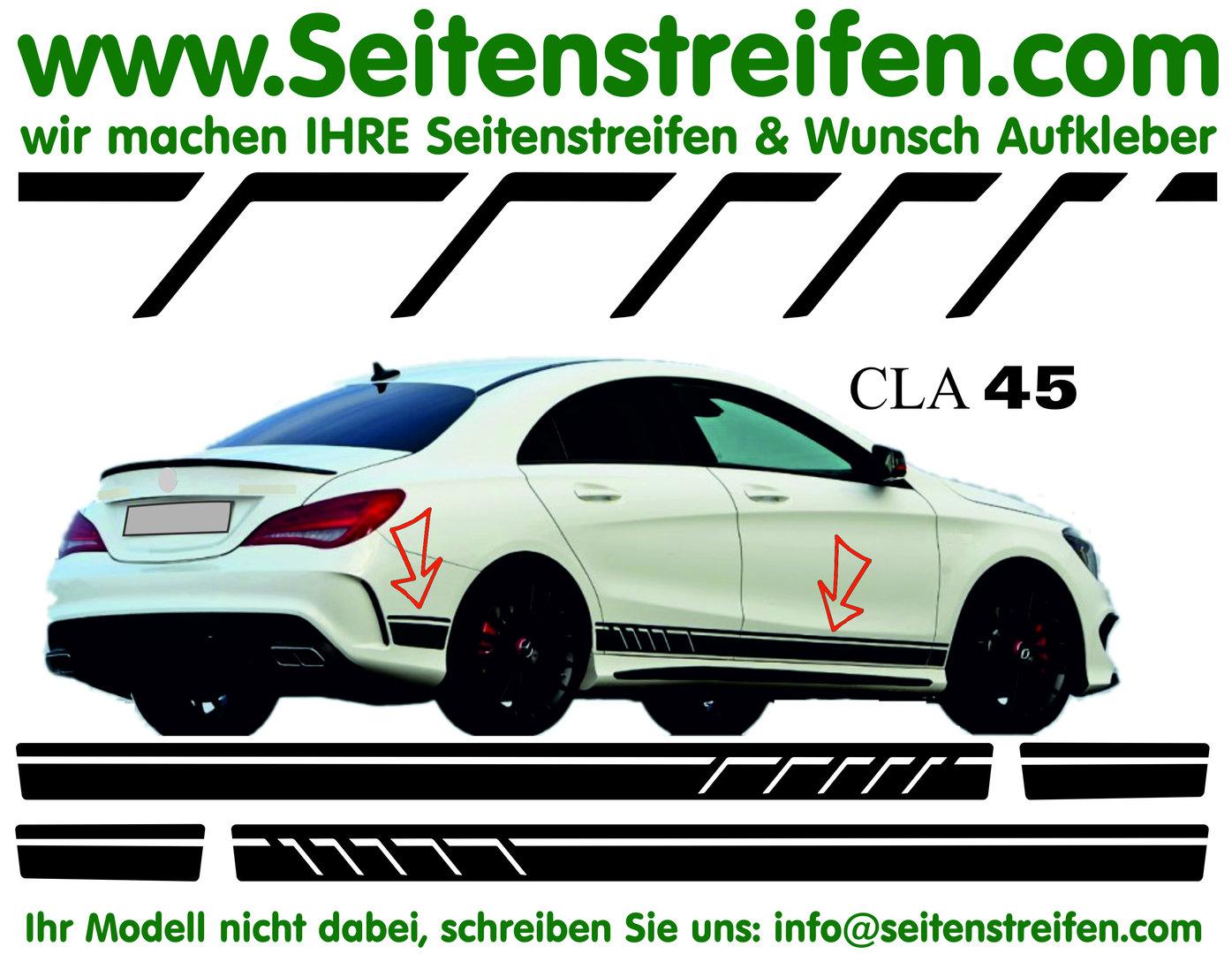 Mercedes Benz Cla Cla Shooting Brake Amg Replika Seitenstreifen Dekor Aufkleber Set Artnr 7096