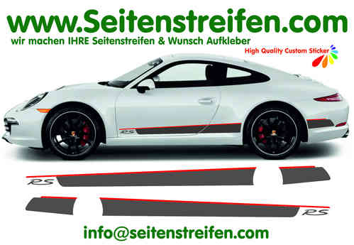 Porsche 911 RS Look Checker bande latérale autocollant ensemble complet - N° 7771