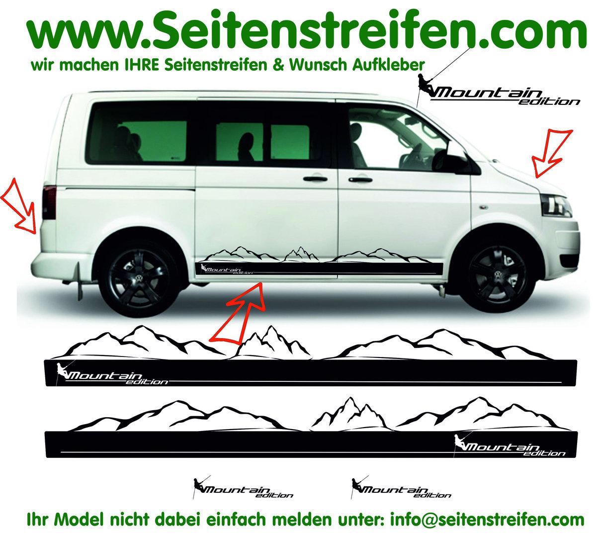 Vw Bus T4 T5 T6 Mountain Edition Mit Bergpanorama Seitenstreifen