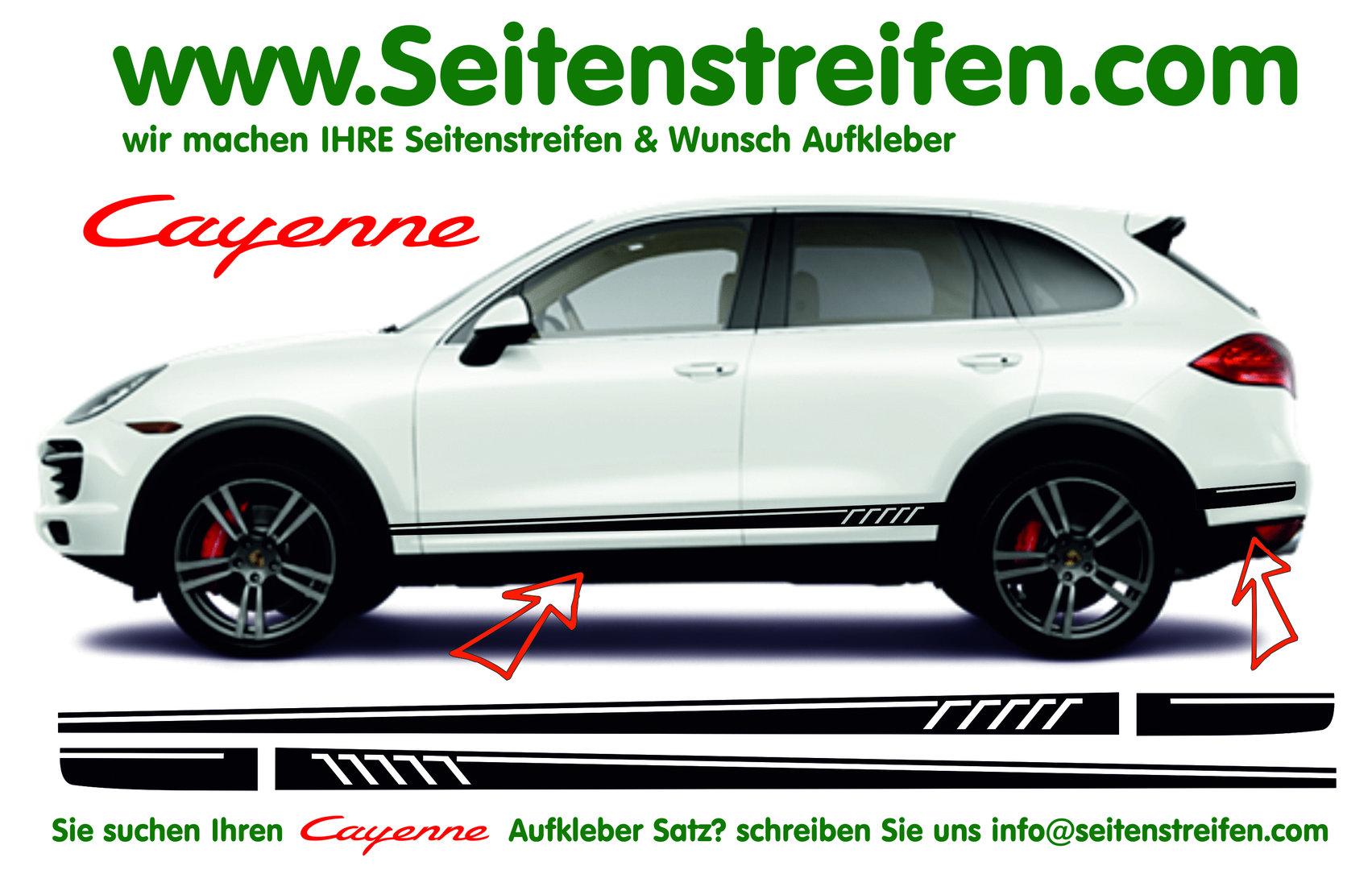 Porsche cayenne 507 amg seitenstreifen jpg