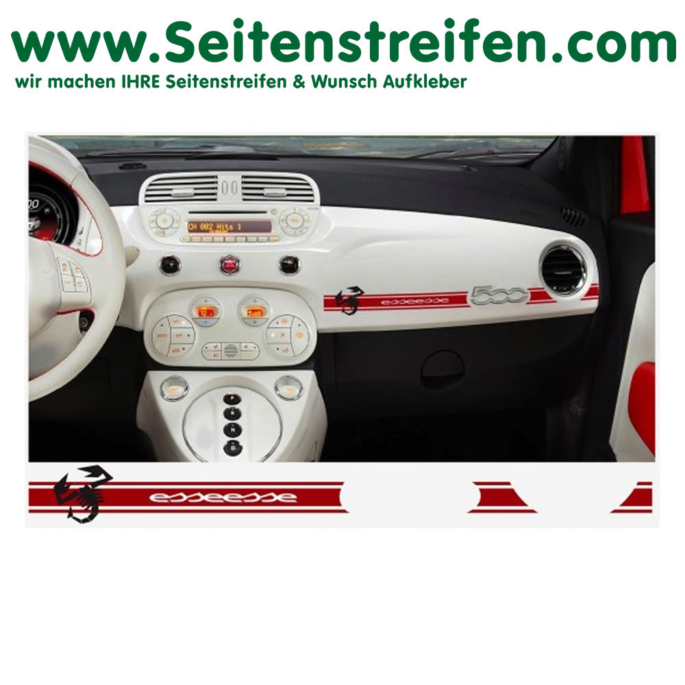 Fiat 500 Abarth Scorpion esseesse Armatur Aufkleber Art.Nr 7893
