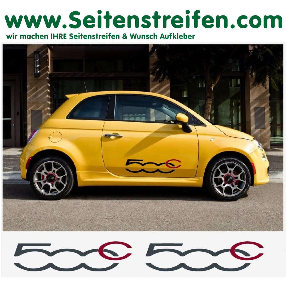 Fiat 500 Decal Sticker Graphics