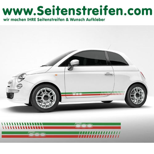 Fiat 500 Martini Racing set completo de pegatinas laterales - N° 6033