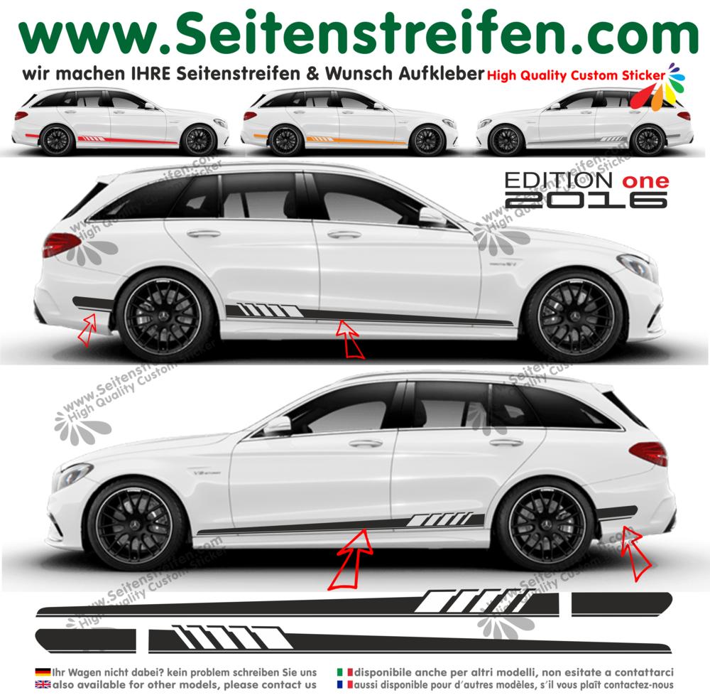 Mercedes Benz C Class Estate Amg C63 S205 Edition 1 Side Stripes Decal Sticker Set