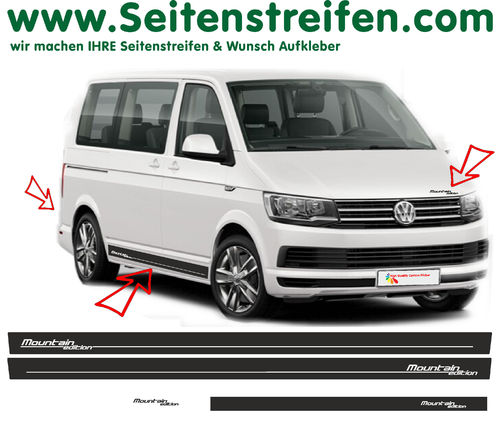 VW BUS T6 Mountain Edition set completo de pegatinas laterales Nr.: 7840