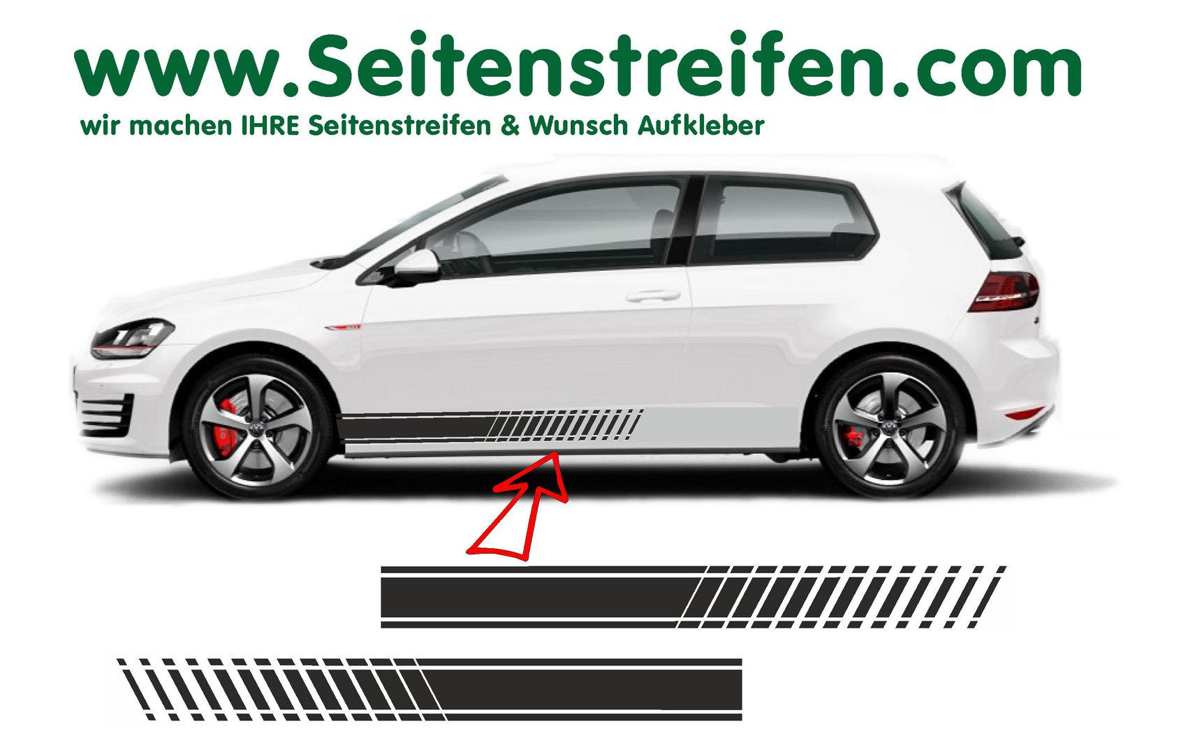 Vw Golf Evo Version N3 Seitenstreifen Aufkleber Set Für 34 Türer Nr 8503