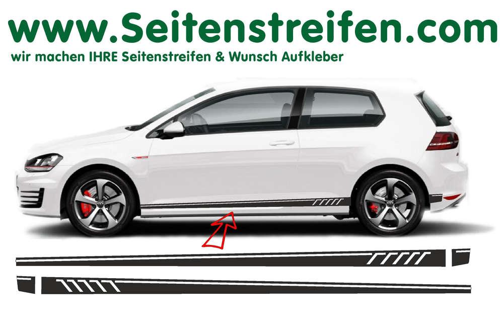 Vw Golf Sport Line Seitenstreifen Aufkleber Set Für 34 Türer Nr 8506