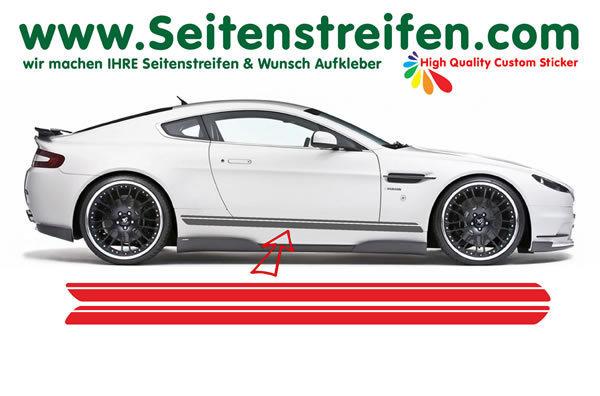 2x Seitenstreifen Doppel Streifen Auto Aufkleber Dekorstreifen Rennstreifen 220cm X 10cm N 0152