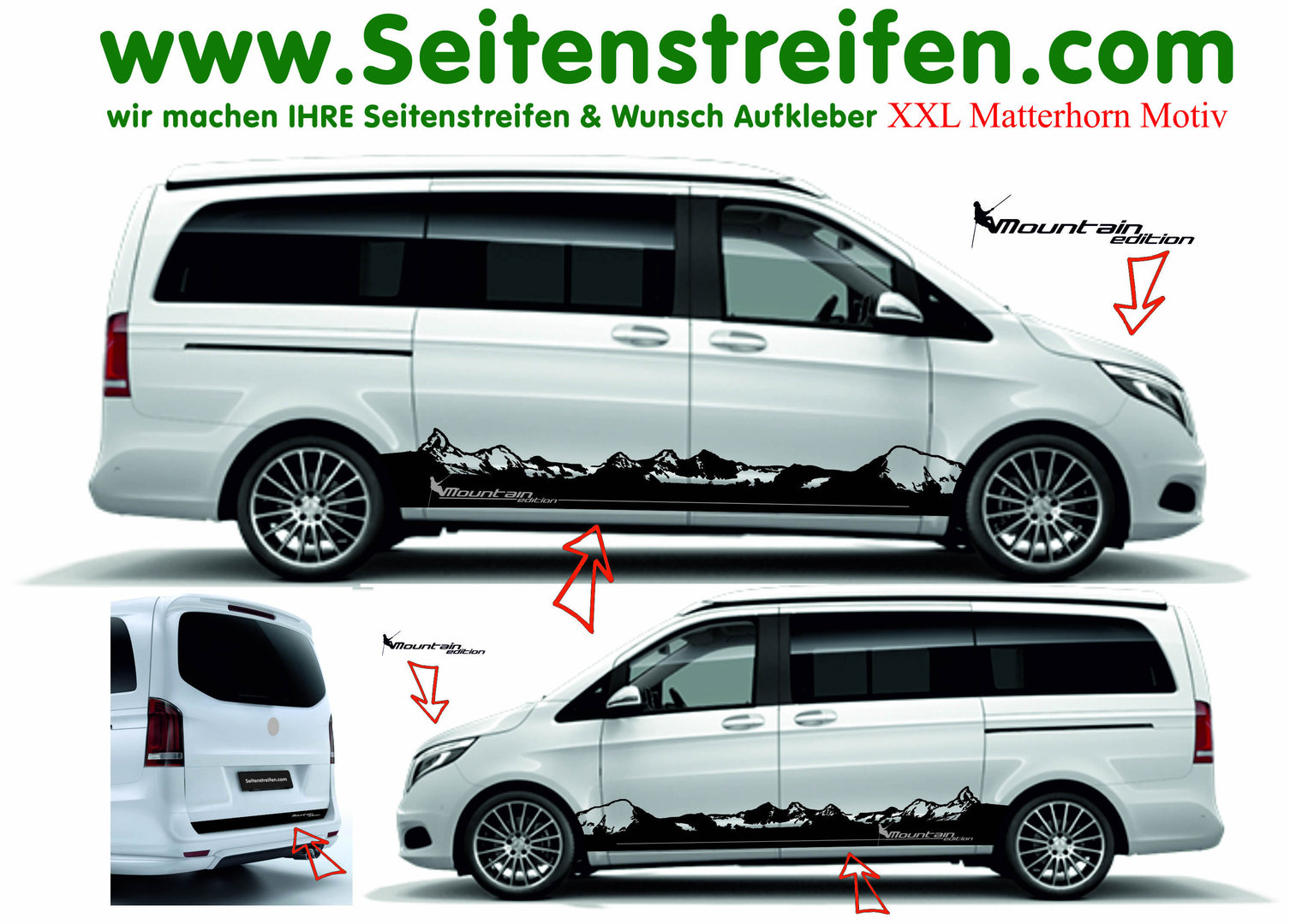 Mercedes Benz V Class Vito Mountain Set`s