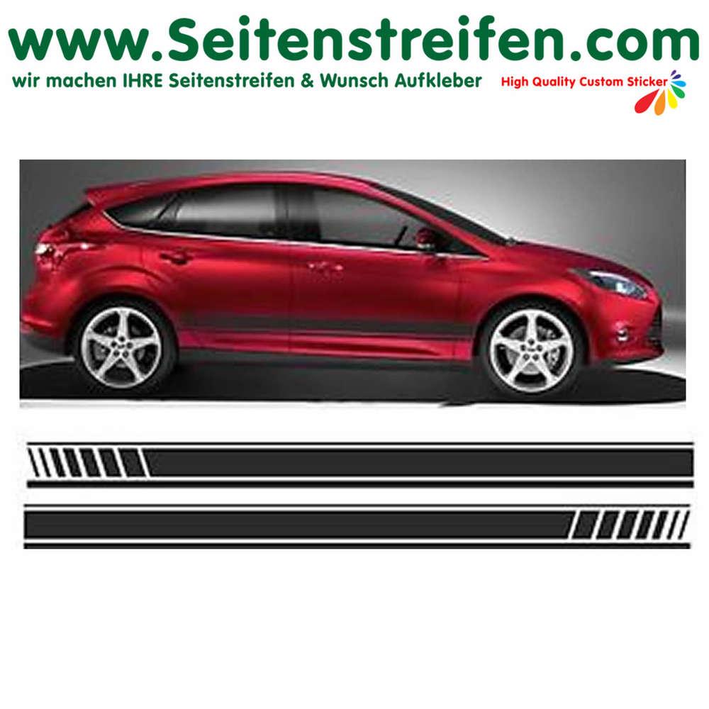 Ford Focus Evo Seitenstreifen Auto Aufkleber Dekor Komplett Set Art Nr 1057