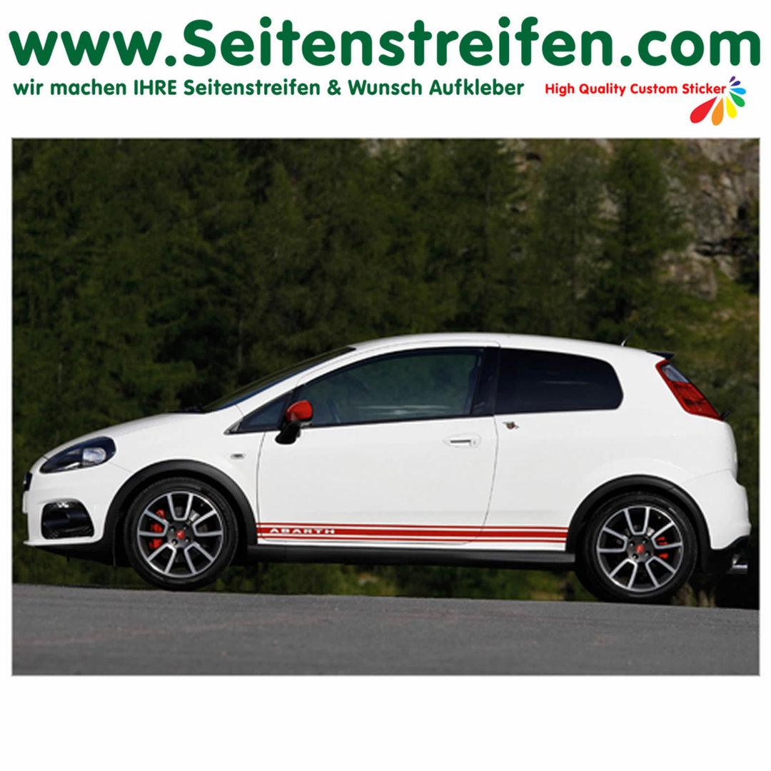 Fiat Punto Professionelle Auto Seitenstreifen Seitensdekore 2014 Evo Grande Abarth Dekor Aufkleber Set Art