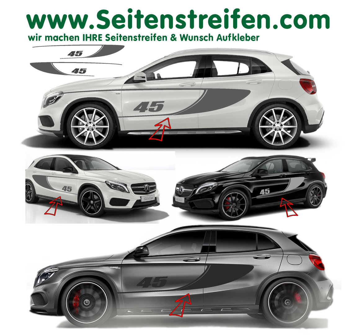 mercedes benz gla amg 45 dition 1 r plique bande. Black Bedroom Furniture Sets. Home Design Ideas