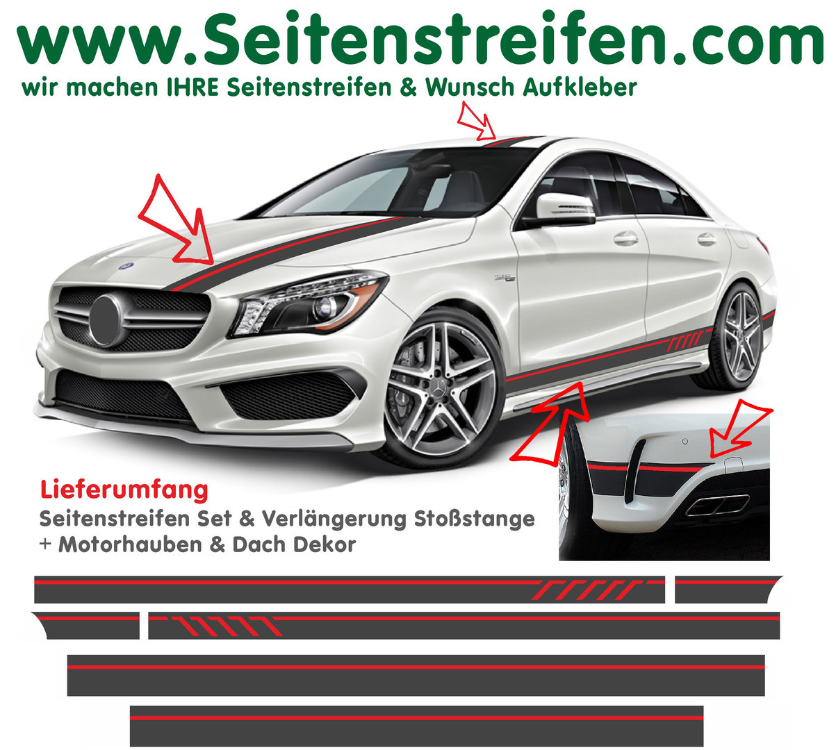 mercedes benz cla amg 45 dition1 bande lat rale. Black Bedroom Furniture Sets. Home Design Ideas