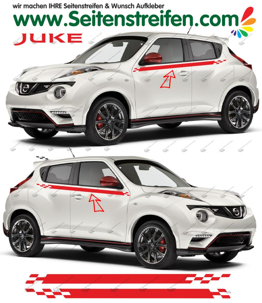 Nissan juke nismo r look side stripes sticker decal complete set n 1534