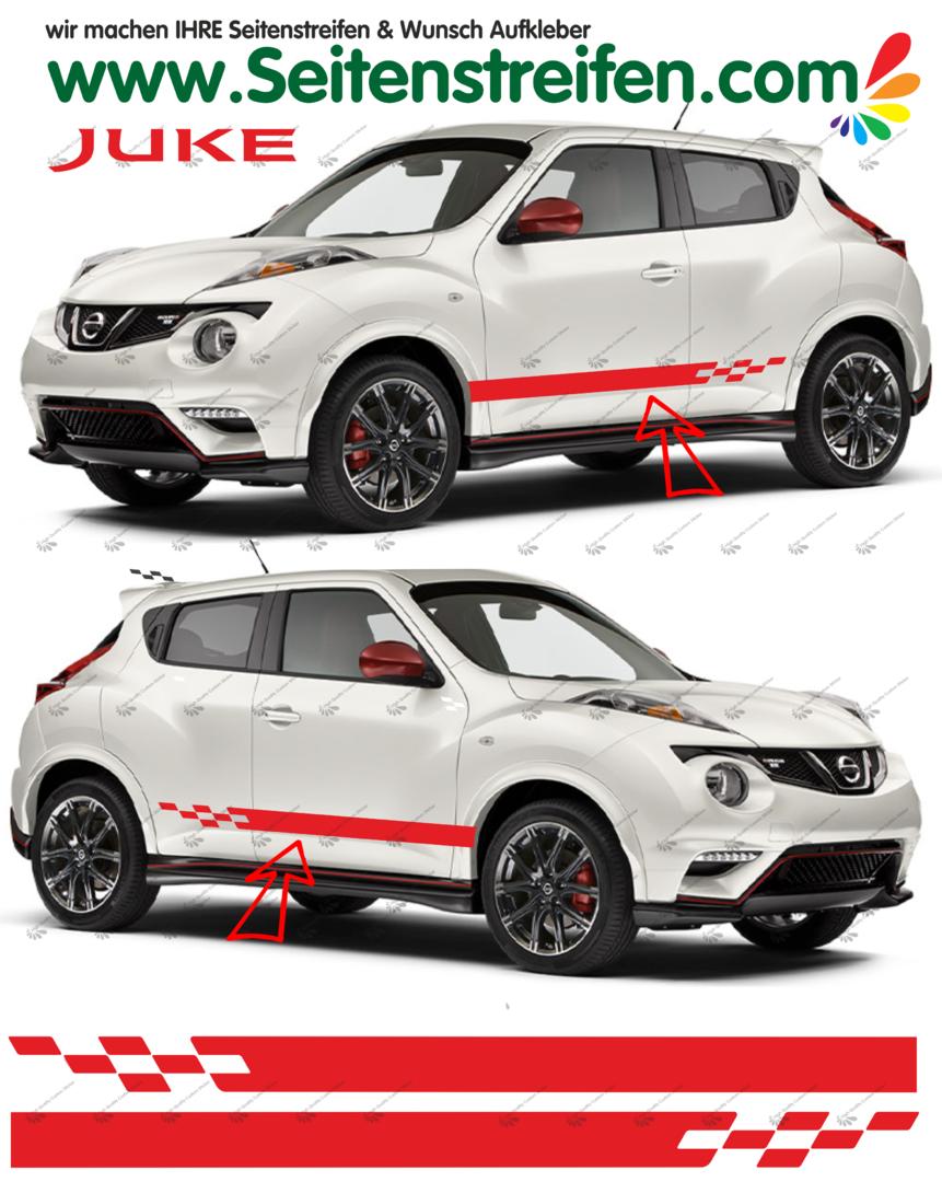 Nissan juke nismo r look bande latérale autocollant ensemble complet n 1535