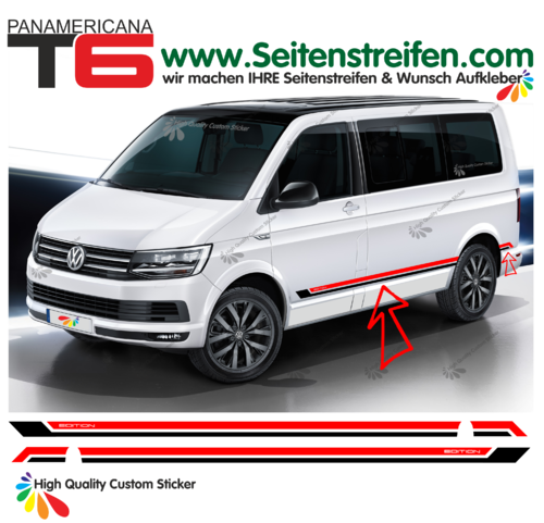 VW T6 Panamericana EDITION 2016 - set de pegatinas laterales set completo N° 9499