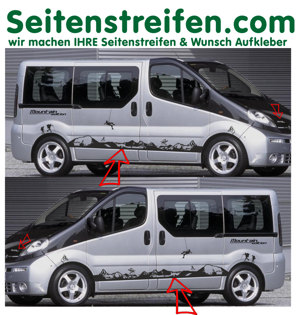 Opel Vivaro Matterhorn Mountain Edition Sport Arten Set - Art.Nr.: 8560