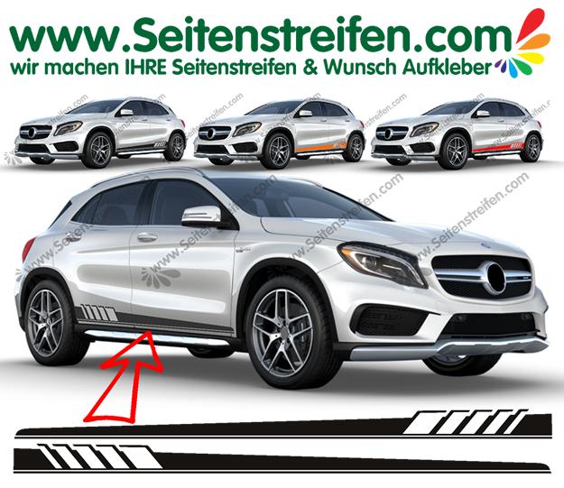 Mercedes Benz Gla Edition 1 Seitenstreifen Aufkleber Dekor Set Artnr 6110