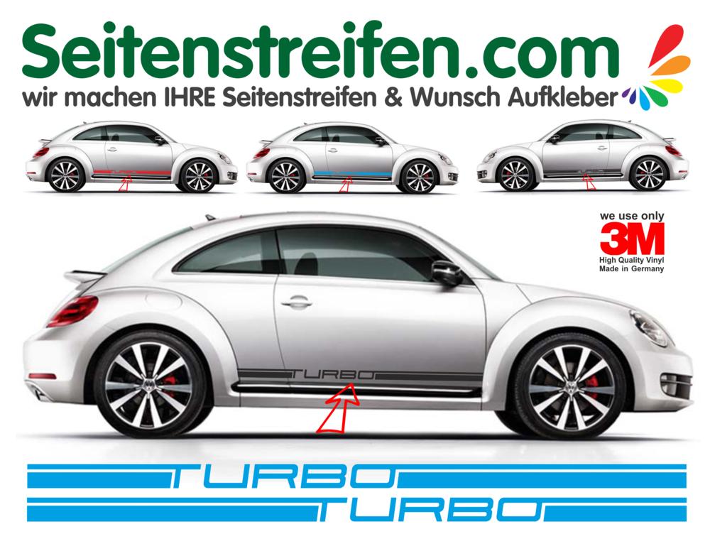 Vw Beetle Käfer Turbo Seitenstreifen Dekor Aufkleber Komplett Set Art Nr 9506