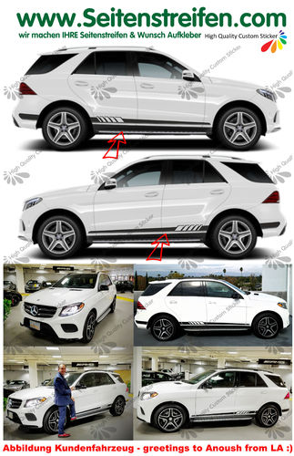 Mercedes Benz GLE Edition 1 Seitenstreifen Dekor Set - Art.Nr.: 6111