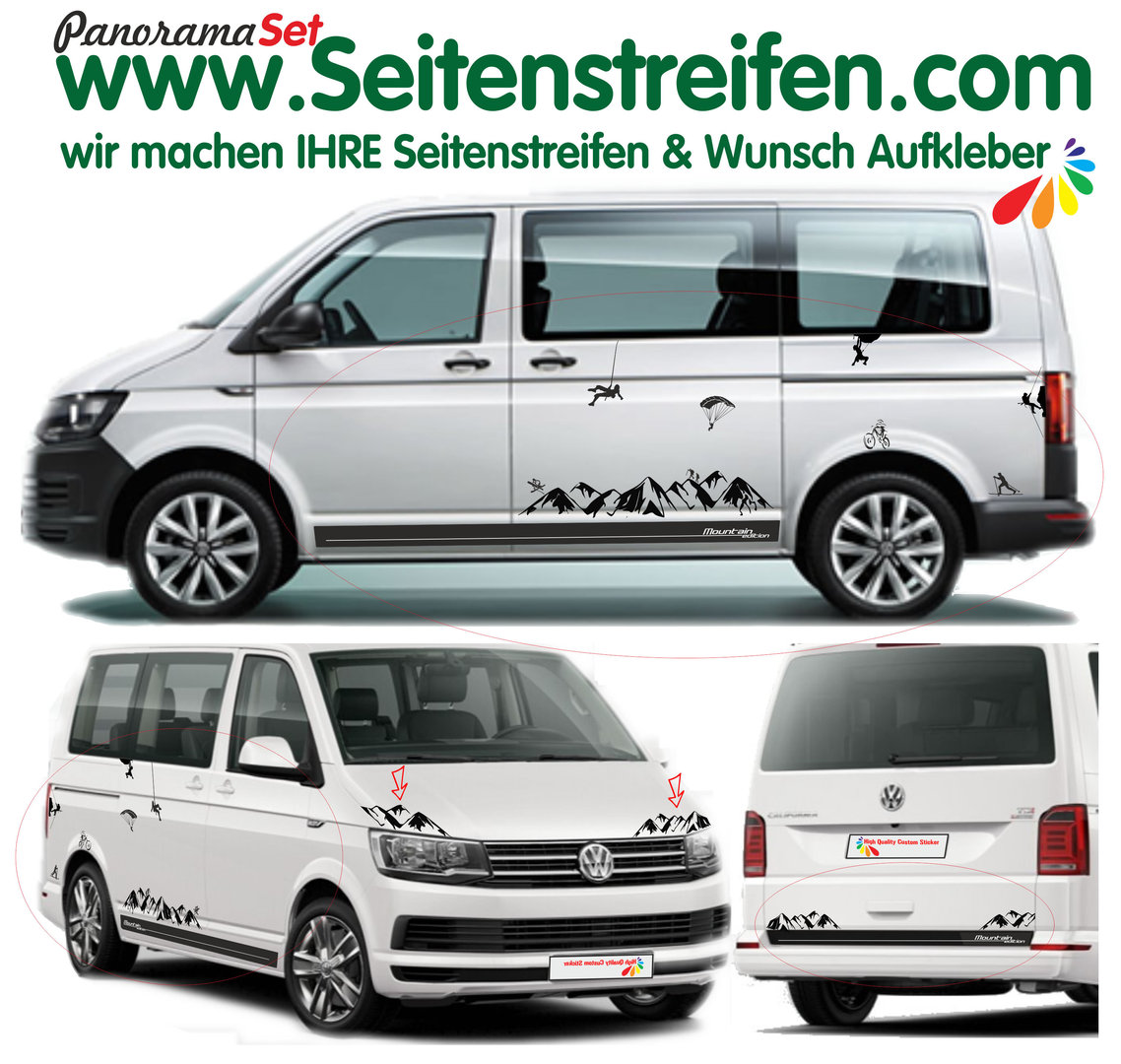 Vw T4 T5 T6 Mountain Edition Berg Panorama Outdoor Sport Dekor Aufkleber Xl Set N 1903